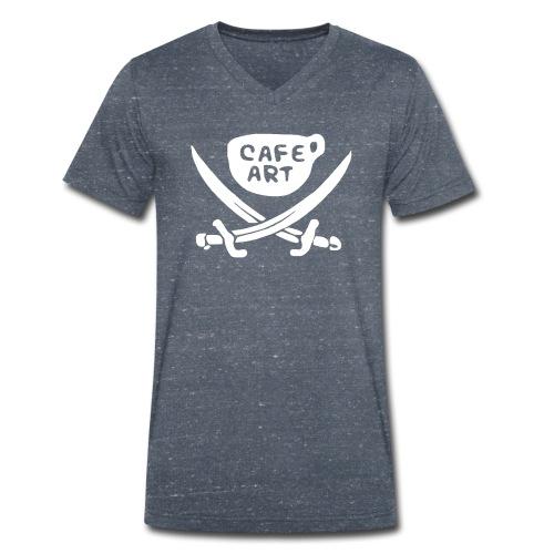 cafeart - T-shirt ecologica da uomo con scollo a V di Stanley & Stella
