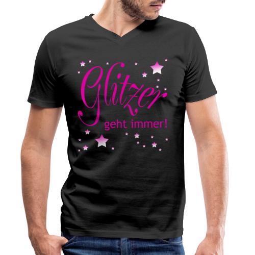Glitzer geht immer - Männer Bio-T-Shirt mit V-Ausschnitt von Stanley & Stella
