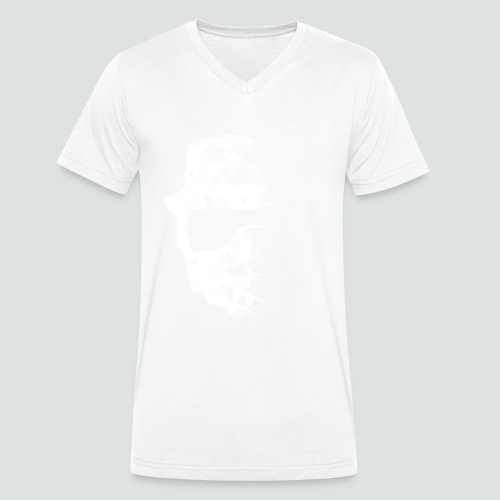 Totenkopf2 png - Männer Bio-T-Shirt mit V-Ausschnitt von Stanley & Stella