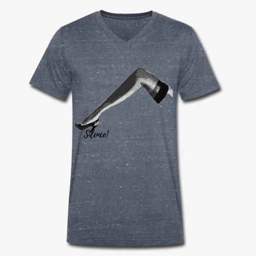 Silence ! - T-shirt bio col V Stanley & Stella Homme