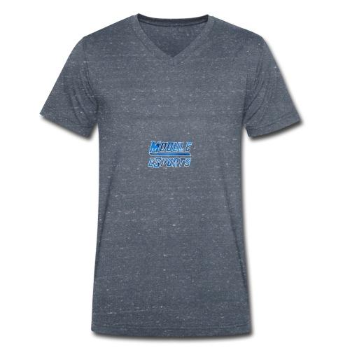 Module Text Logo - Men's Organic V-Neck T-Shirt by Stanley & Stella