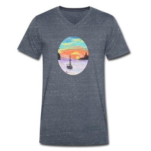 Port de Sollers Sonnenuntergang - Männer Bio-T-Shirt mit V-Ausschnitt von Stanley & Stella