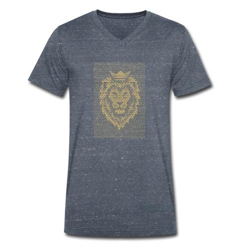 Lion Crown - Men's Organic V-Neck T-Shirt by Stanley & Stella