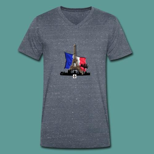 Tee shirt marque mutagene PARIS - T-shirt bio col V Stanley & Stella Homme
