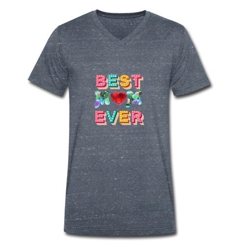 best mom ever5 - Ekologisk T-shirt med V-ringning herr från Stanley & Stella
