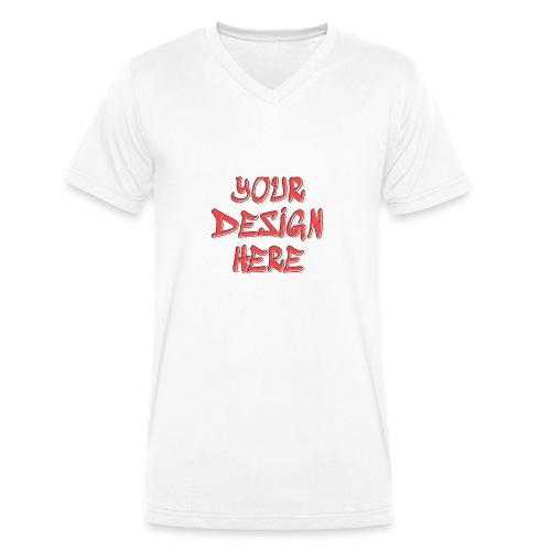 textfx - Ekologisk T-shirt med V-ringning herr från Stanley & Stella