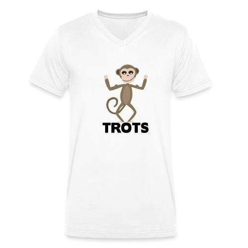 apetrots aapje wat trots is - Mannen bio T-shirt met V-hals van Stanley & Stella