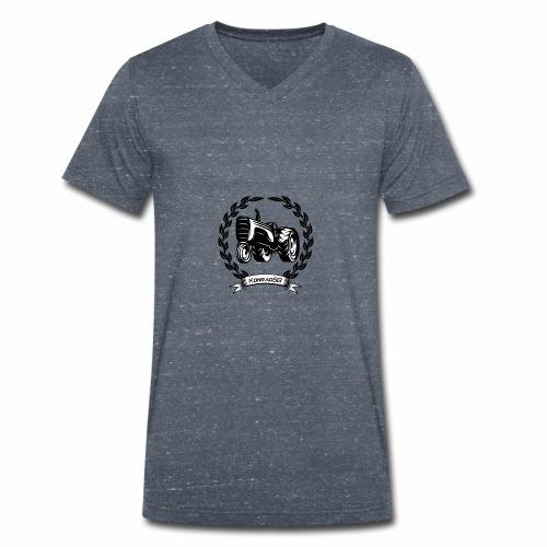 KonradSB - Ekologiczna koszulka męska z dekoltem w serek Stanley & Stella