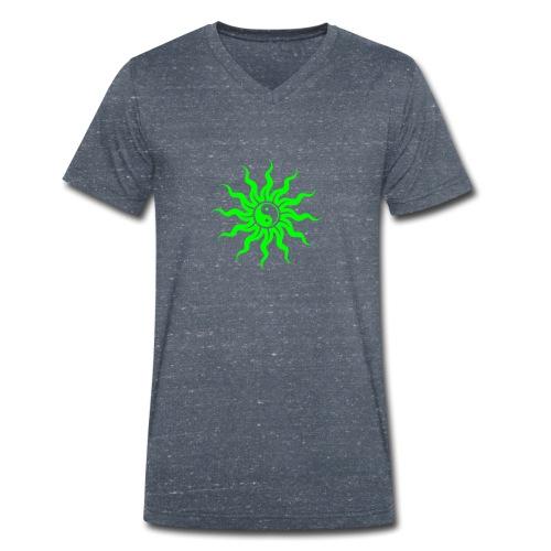 Yin Yang Sonne - Männer Bio-T-Shirt mit V-Ausschnitt von Stanley & Stella
