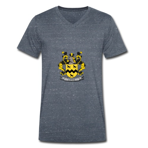 Carrick Family Crest - Men's Organic V-Neck T-Shirt by Stanley & Stella