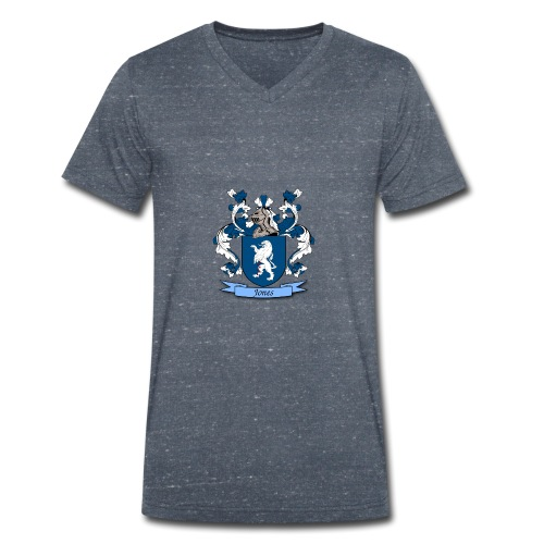 Jones Family Crest - Men's Organic V-Neck T-Shirt by Stanley & Stella