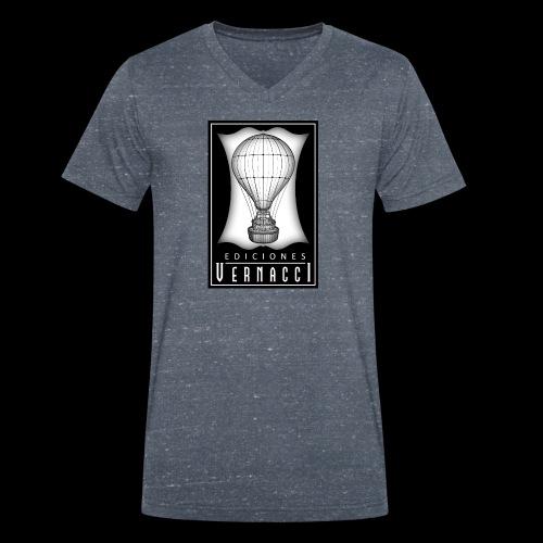 logotipo de ediciones Vernacci - Camiseta ecológica hombre con cuello de pico de Stanley & Stella