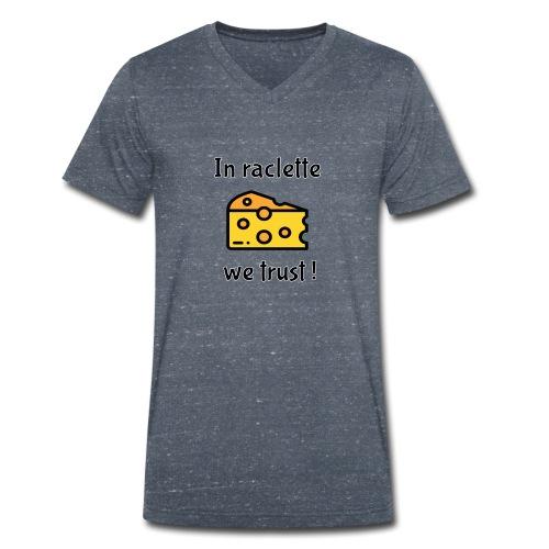 Auf Raclette vertrauen wir - Käse - Männer Bio-T-Shirt mit V-Ausschnitt von Stanley & Stella