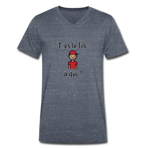 Von wem bist du Sohn? - Männer Bio-T-Shirt mit V-Ausschnitt von Stanley & Stella