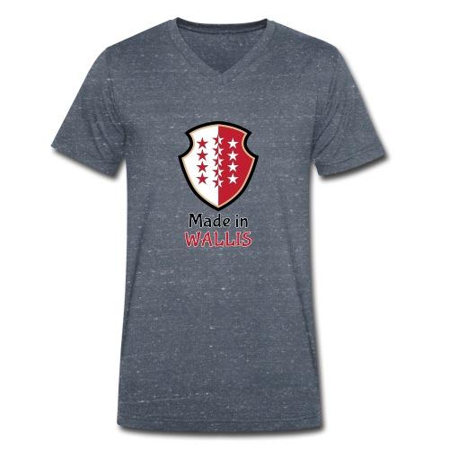 Made in Wallis - Wallis - Männer Bio-T-Shirt mit V-Ausschnitt von Stanley & Stella