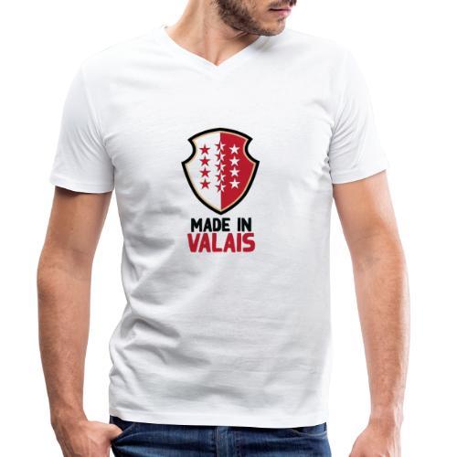 Hergestellt im Wallis - Männer Bio-T-Shirt mit V-Ausschnitt von Stanley & Stella