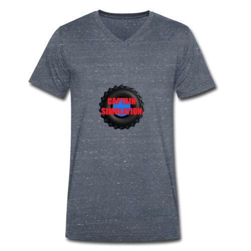 Logo with no blue background - Men's Organic V-Neck T-Shirt by Stanley & Stella
