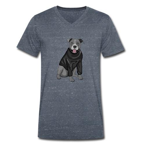 Süßer Hund Pullover Pulli Stafford Geschenk Idee - Männer Bio-T-Shirt mit V-Ausschnitt von Stanley & Stella
