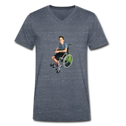 Michael Brown Rollstuhl (Version ein) - Männer Bio-T-Shirt mit V-Ausschnitt von Stanley & Stella