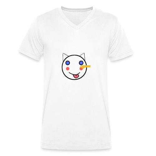 Alf Cat With Friend   Alf Da Cat - Men's Organic V-Neck T-Shirt by Stanley & Stella