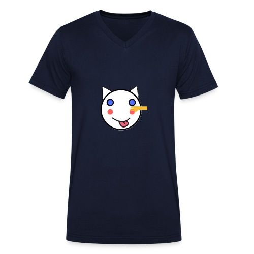 Alf Cat With Friend | Alf Da Cat - Men's Organic V-Neck T-Shirt by Stanley & Stella
