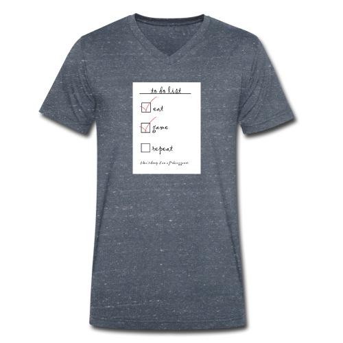gamer life - Mannen bio T-shirt met V-hals van Stanley & Stella