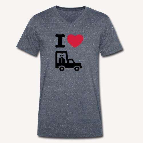 Papst im Auto - Men's Organic V-Neck T-Shirt by Stanley & Stella