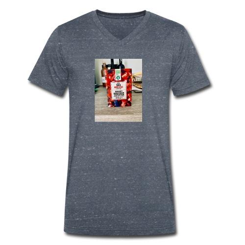 Tomato - Økologisk Stanley & Stella T-shirt med V-udskæring til herrer