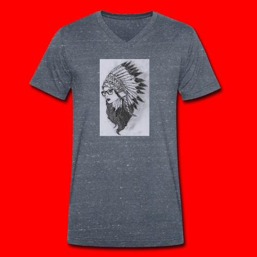 indian - T-shirt ecologica da uomo con scollo a V di Stanley & Stella