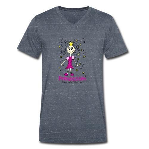 Prinzessin ueber alle Sterne - Männer Bio-T-Shirt mit V-Ausschnitt von Stanley & Stella