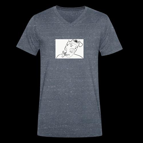 KJ Hoodie Outline NEW - Männer Bio-T-Shirt mit V-Ausschnitt von Stanley & Stella