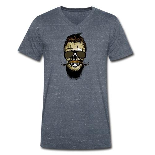 tete de mort hipster barbu barbe crane lunette de - T-shirt bio col V Stanley & Stella Homme
