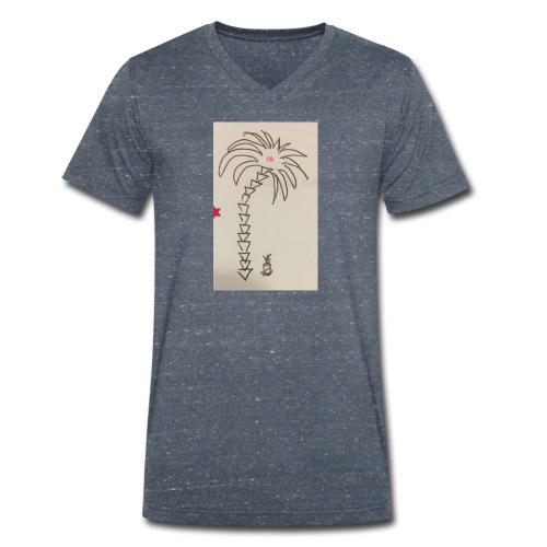 08 Pineapple - Männer Bio-T-Shirt mit V-Ausschnitt von Stanley & Stella