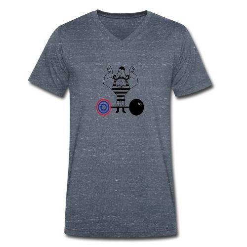 uomo_forzuto3-0 - T-shirt ecologica da uomo con scollo a V di Stanley & Stella