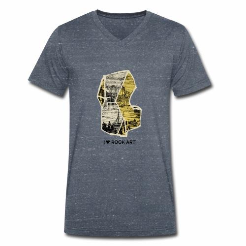 I LOVE ROCK ART No 2 colour - Mannen bio T-shirt met V-hals van Stanley & Stella