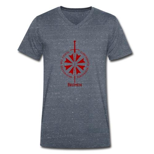 T shirt front HB - Männer Bio-T-Shirt mit V-Ausschnitt von Stanley & Stella