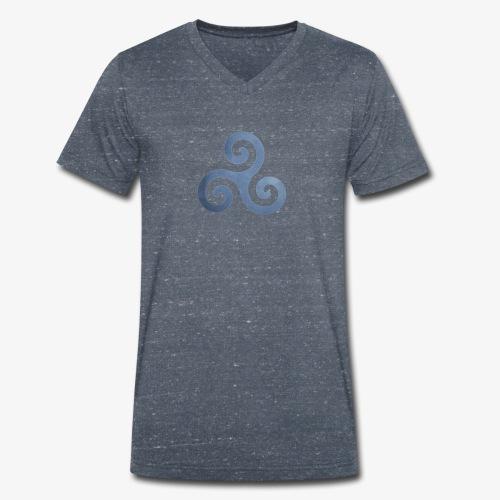 Trisquel 5 - Camiseta ecológica hombre con cuello de pico de Stanley & Stella