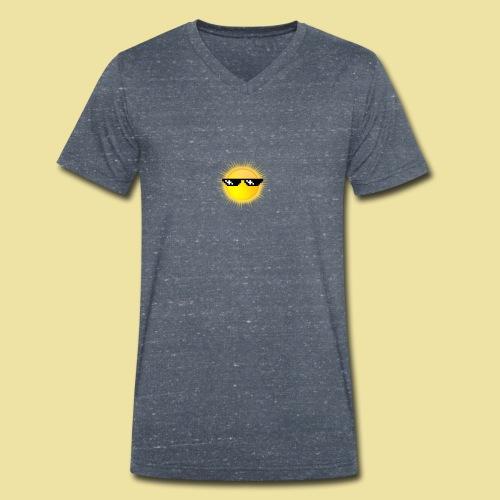 coole Sonne mit Sonnenbrille - Männer Bio-T-Shirt mit V-Ausschnitt von Stanley & Stella