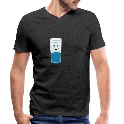 REIN TECHNISCH ist das Glas IMMER VOLL - Männer Bio-T-Shirt mit V-Ausschnitt von Stanley & Stella
