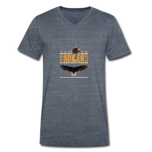 ADLER - Adlerkopf - Sterne - Greifvogel begeistert - Männer Bio-T-Shirt mit V-Ausschnitt von Stanley & Stella
