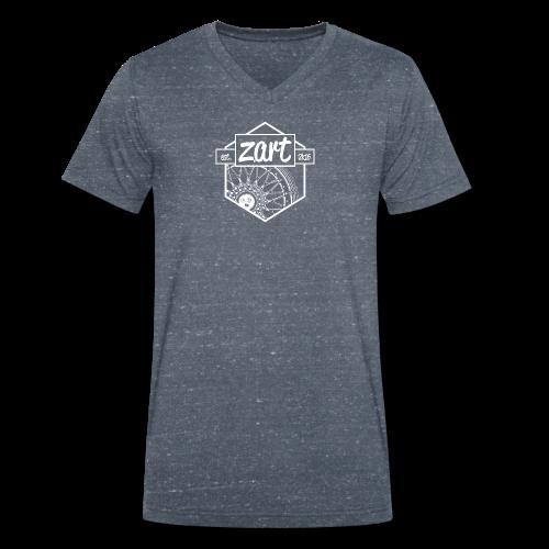 z.art Logo | white - Männer Bio-T-Shirt mit V-Ausschnitt von Stanley & Stella