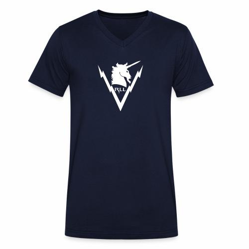Brand RLL White - T-shirt ecologica da uomo con scollo a V di Stanley & Stella