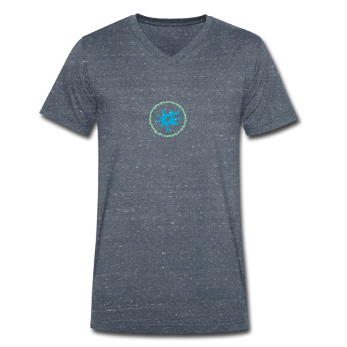 virus - Men's Organic V-Neck T-Shirt by Stanley & Stella