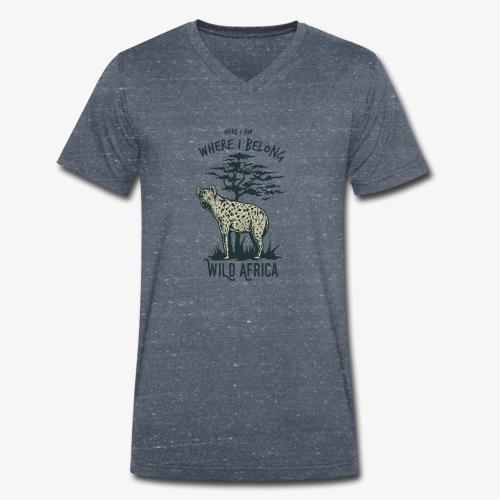 Hyäne - Männer Bio-T-Shirt mit V-Ausschnitt von Stanley & Stella