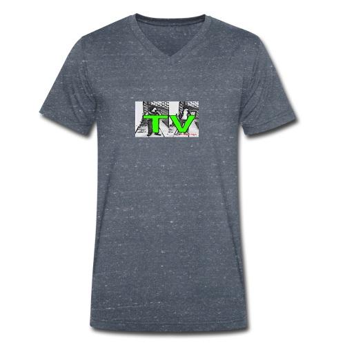 Real Bros TV - Männer Bio-T-Shirt mit V-Ausschnitt von Stanley & Stella