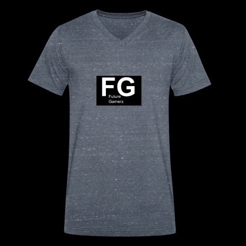 FG lofo boxed black boxed - Men's Organic V-Neck T-Shirt by Stanley & Stella