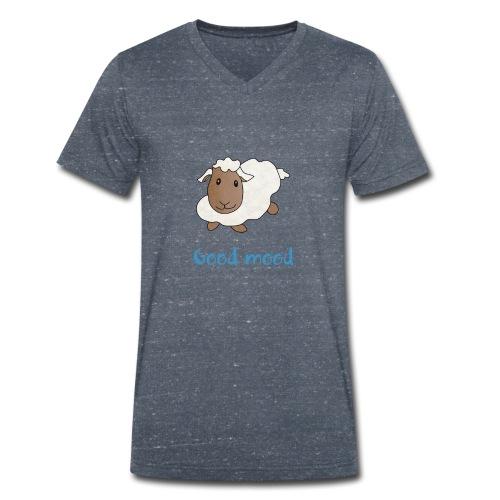 Nadège le petit mouton blanc - T-shirt bio col V Stanley & Stella Homme