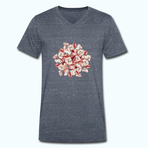 Hippie Aquarell Blumen - Men's Organic V-Neck T-Shirt by Stanley & Stella