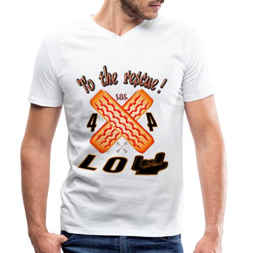 To the rescue! - Camiseta ecológica hombre con cuello de pico de Stanley & Stella