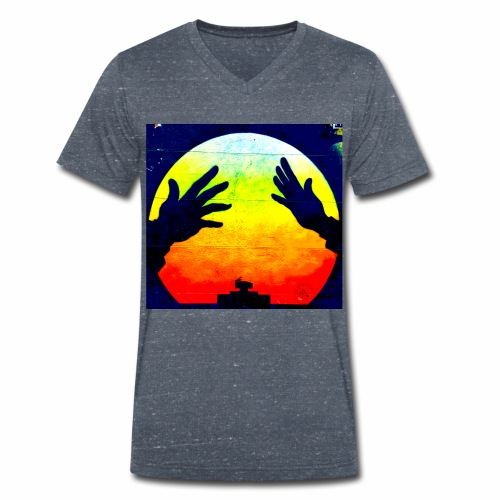 Nuclear Hands - Men's Organic V-Neck T-Shirt by Stanley & Stella